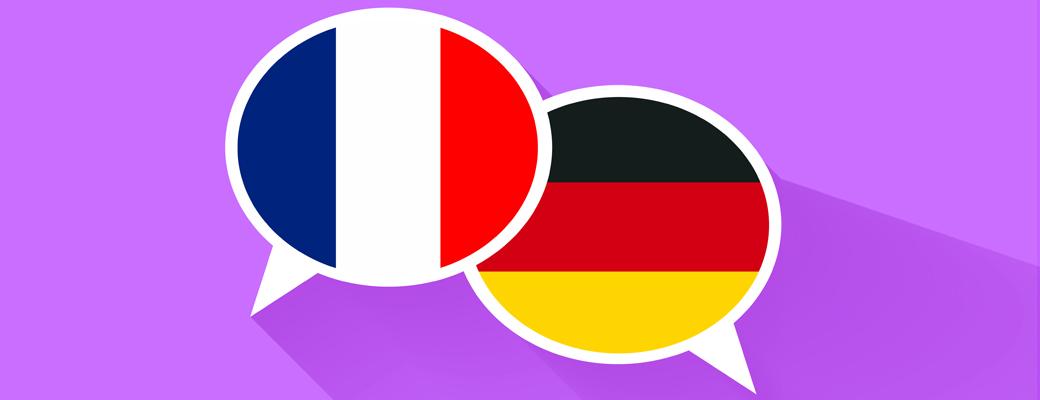 deutsche und französische Fahne
