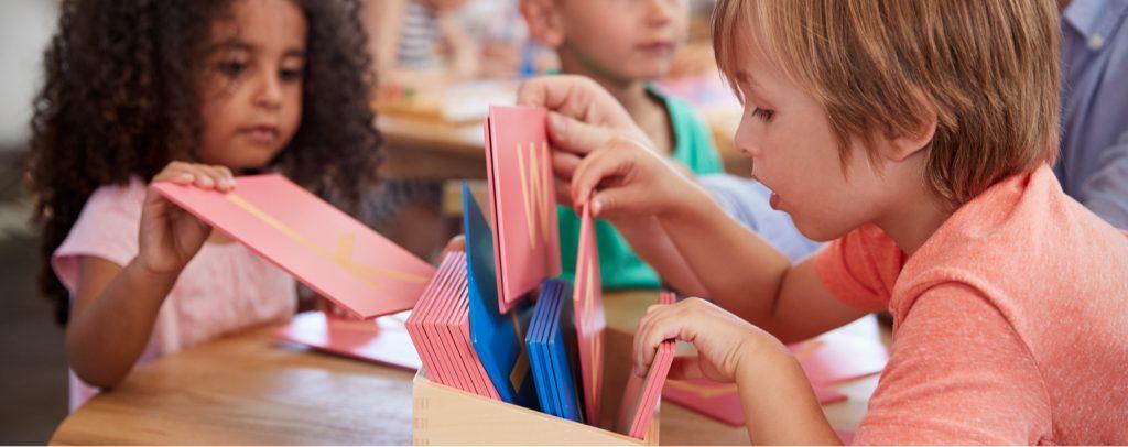 kinder montessori-schule lernen