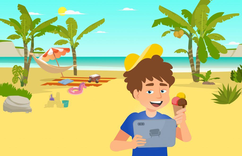 Lernen in den Sommerferien
