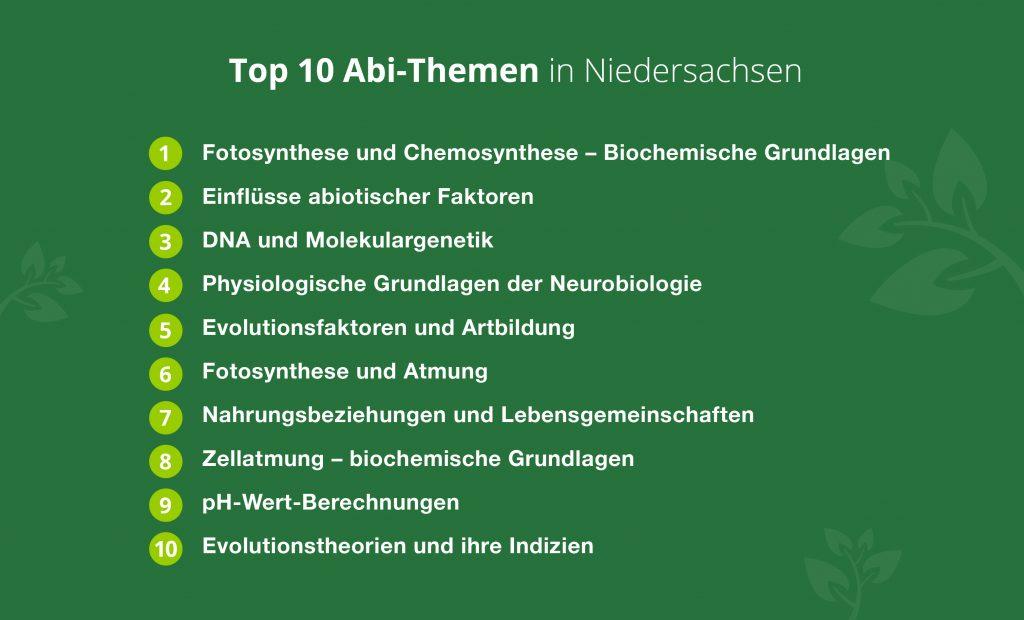 Die Top-Abi-Themen in Niedersachsen