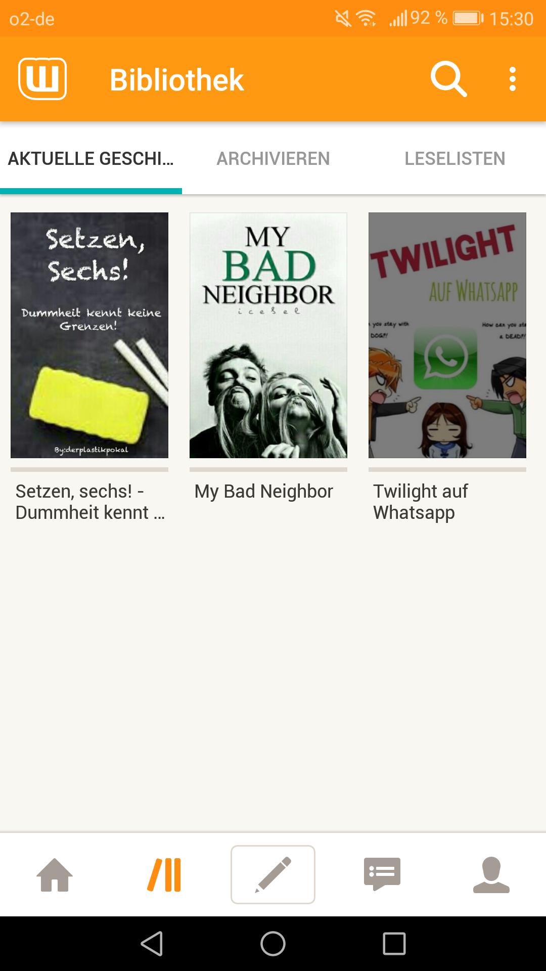 Screenshot_Wattpad_Bibliothek (1.9.2017)