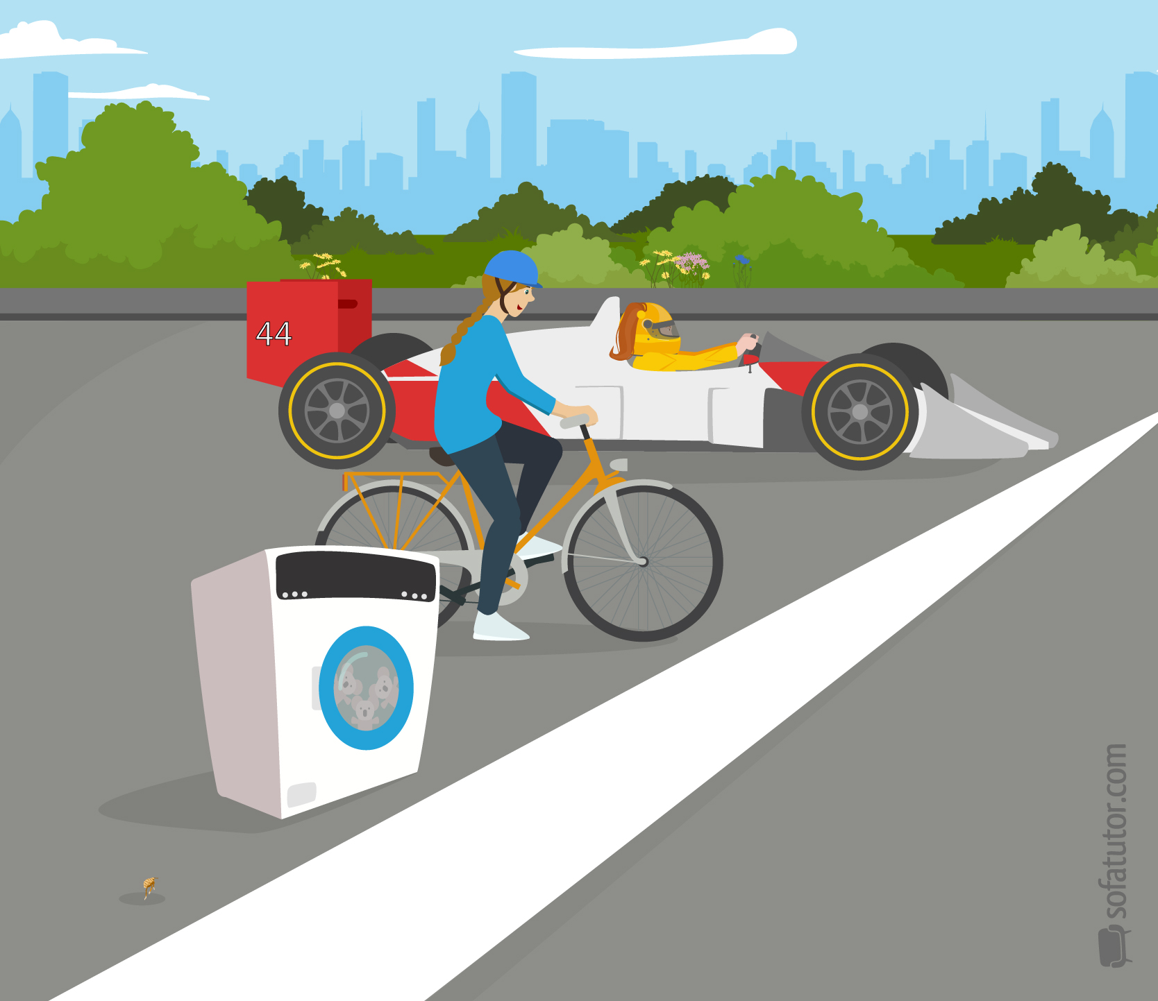 Beschleunigungen-im-Alltag-Rennauto-Fahrrad-Waschmaschine-Floh