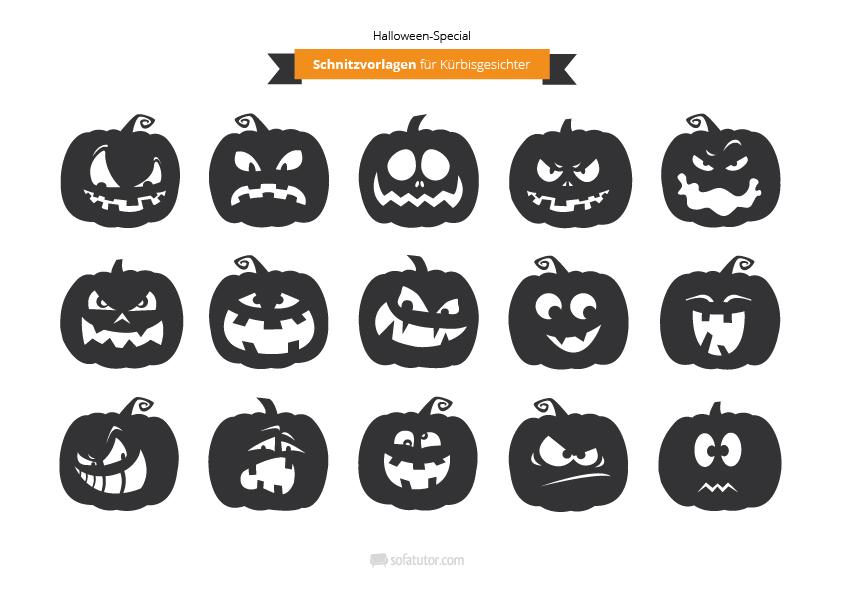 Halloween Special Vorlagen Zum Kürbisschnitzen