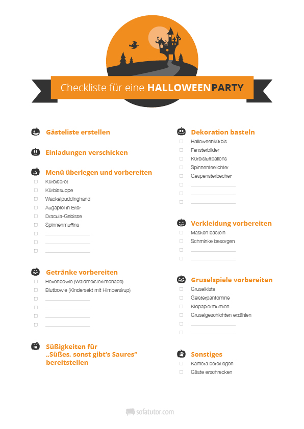 halloween-party-checkliste und halloween-party-einladung, Einladungsentwurf