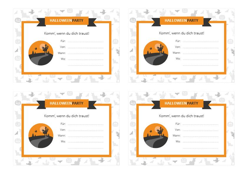 Halloween Party Checkliste Und Halloween Party Einladung