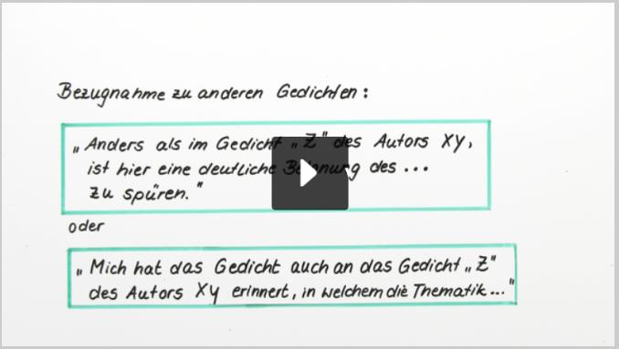 Deutsch So Schreibst Du Eine Gedichtinterpretation