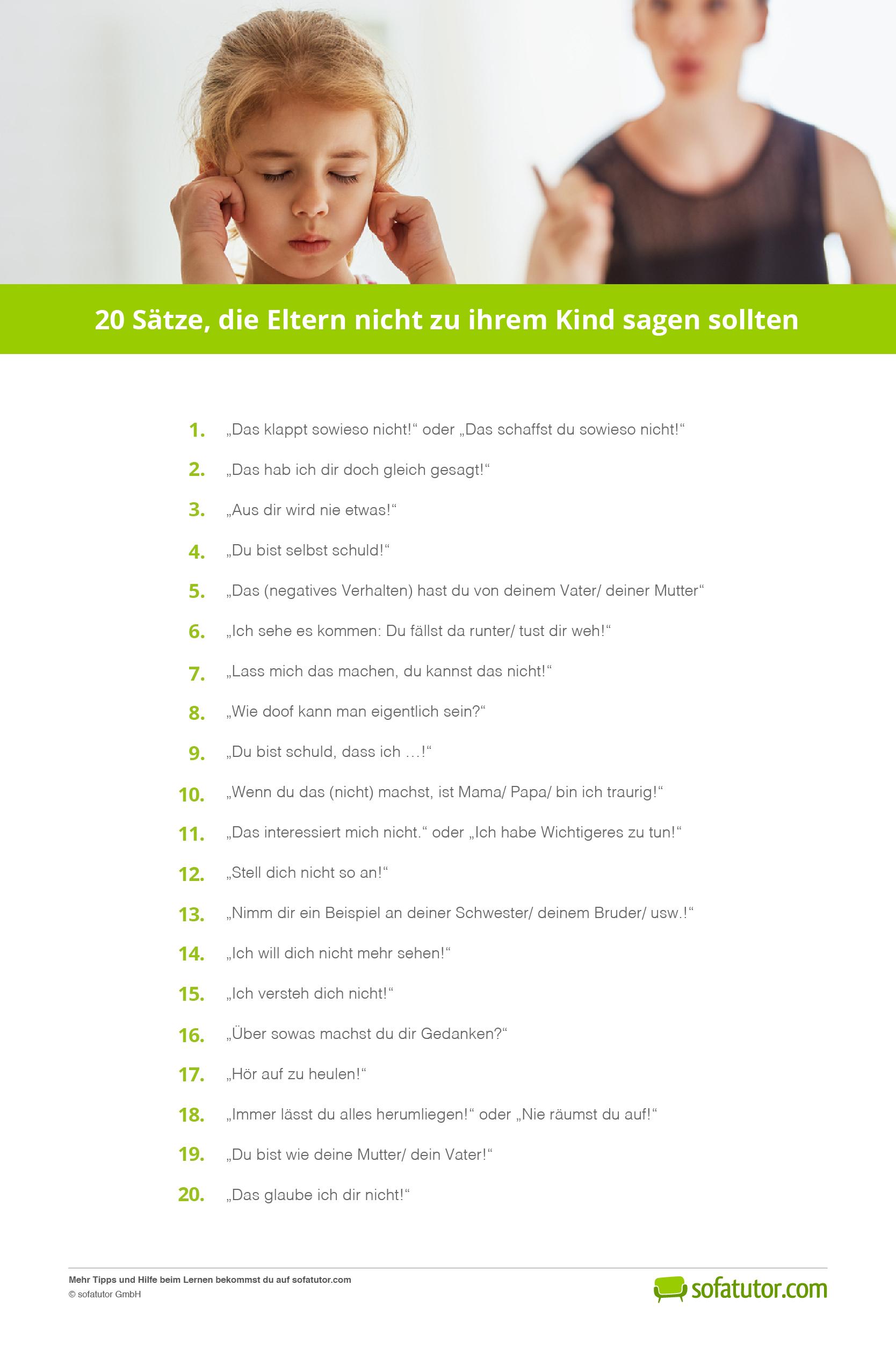 10 Dinge, die Eltern ihren Kindern nicht geben sollten