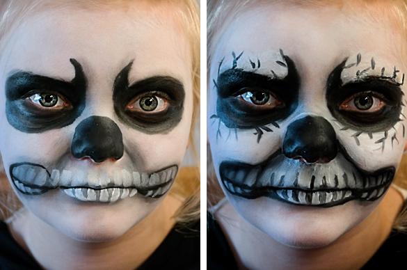 Halber Totenkopf Schminken : halloween make up schminktipps vampir totenkopf hexe ~ Yuntae.com Dekorationen Ideen