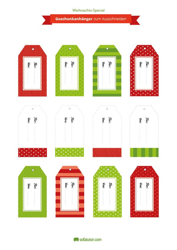 weihnachtliche geschenkanh nger zum ausdrucken. Black Bedroom Furniture Sets. Home Design Ideas