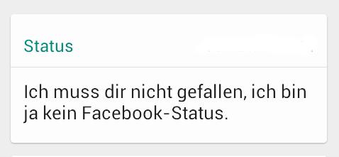 wa status sprüche
