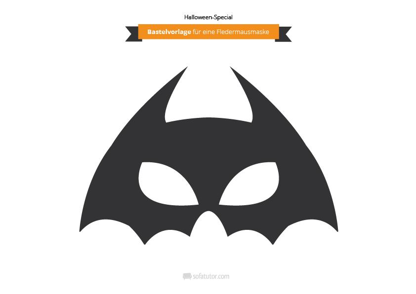 Bastelvorlagen: Halloween-Masken zum Selbermachen