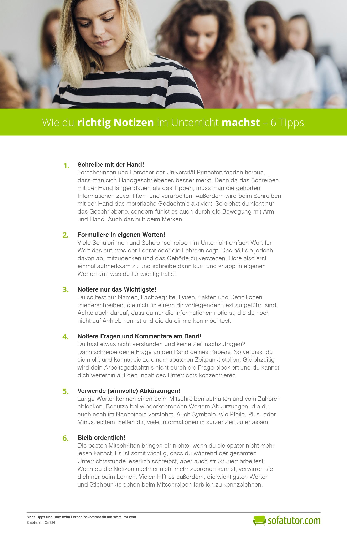 Wie Du Richtig Notizen Im Unterricht Machst 6 Tipps