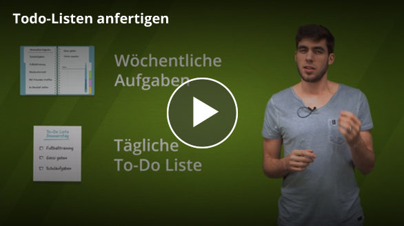 Todo-Listen anfertigen Video